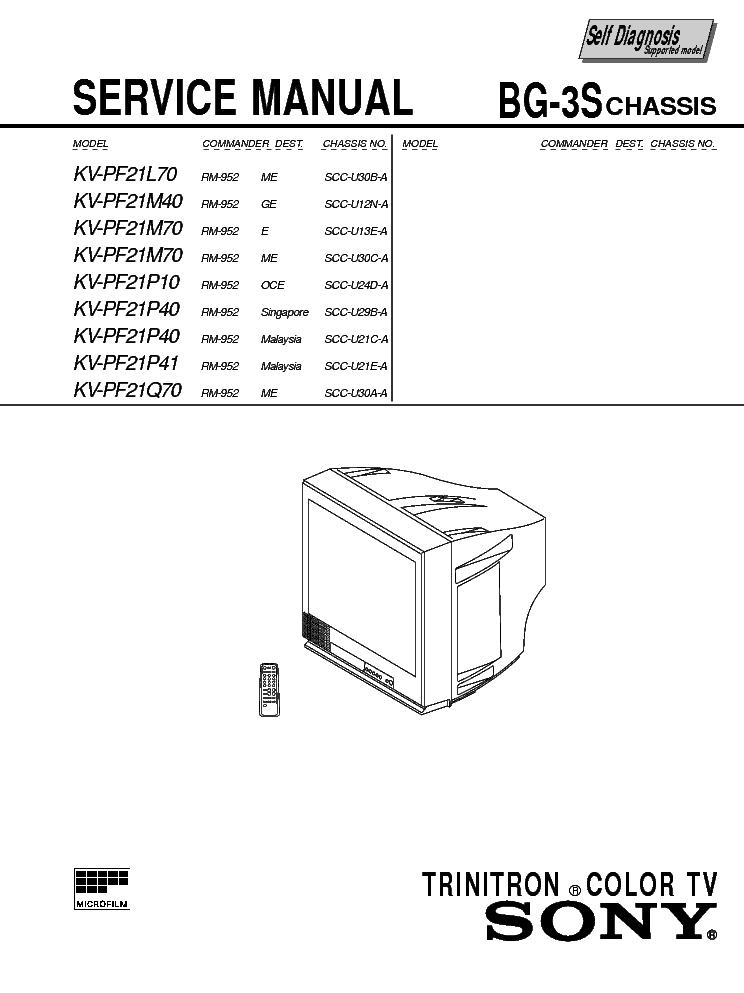SONY KV-PF21L70.M40.M70.P10.