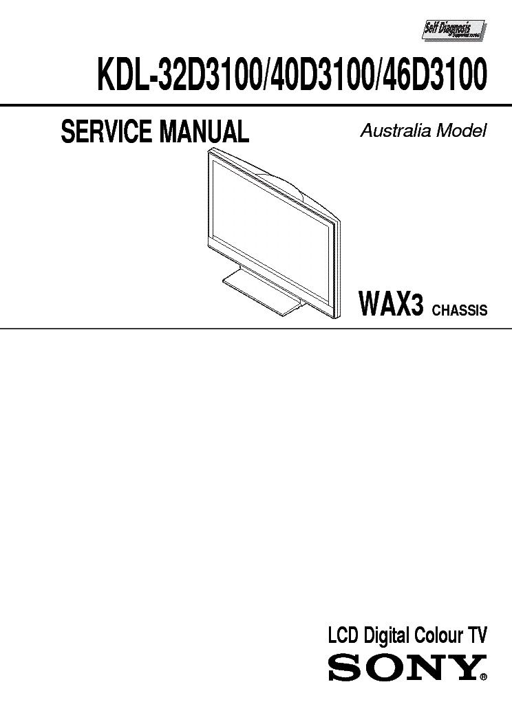 sony lcd tv repair manual