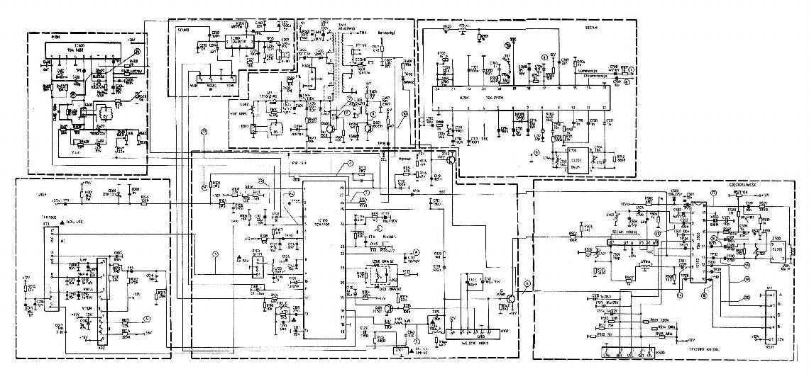 Схема телевизора SUPRA TEC 5181 Chassis BE5.