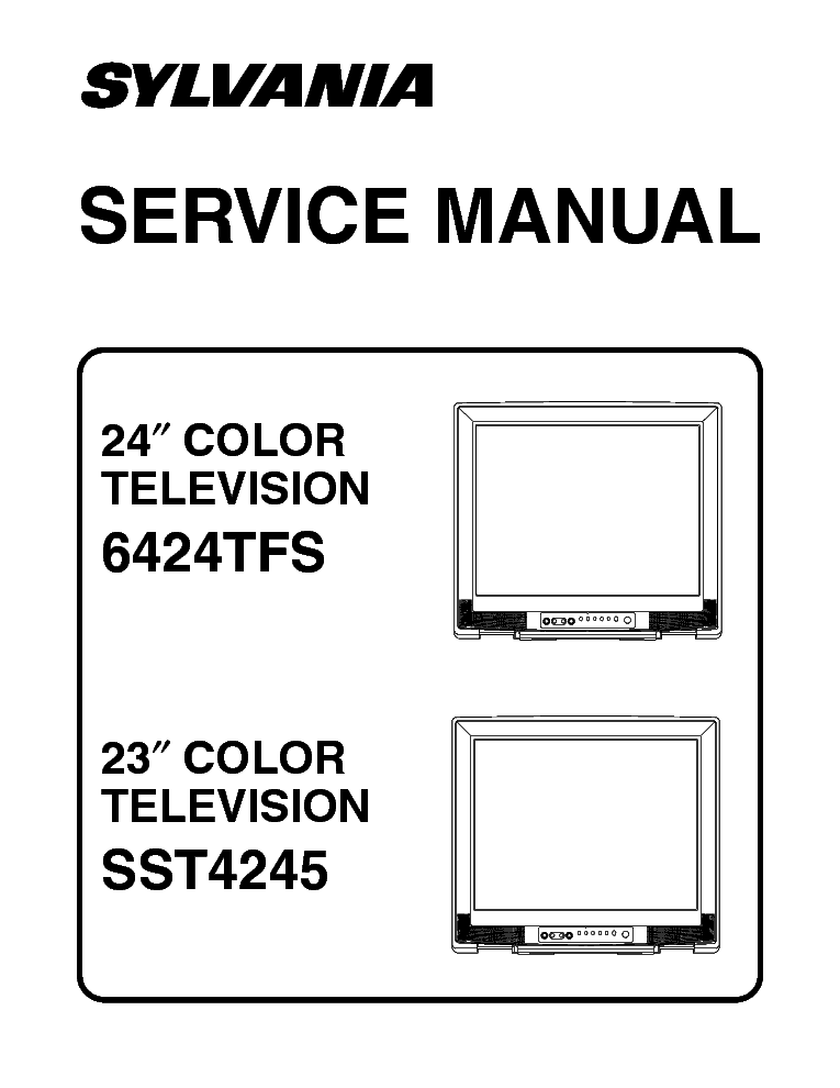 Sylvania 6424tfs Sst4245 Sm Service