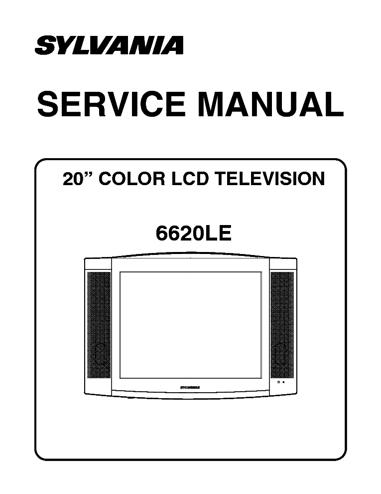 sylvania 6620le l0311um lcd tv service manual download schematics rh elektrotanya com Sylvania TV Manual Sylvania TV Remote Control