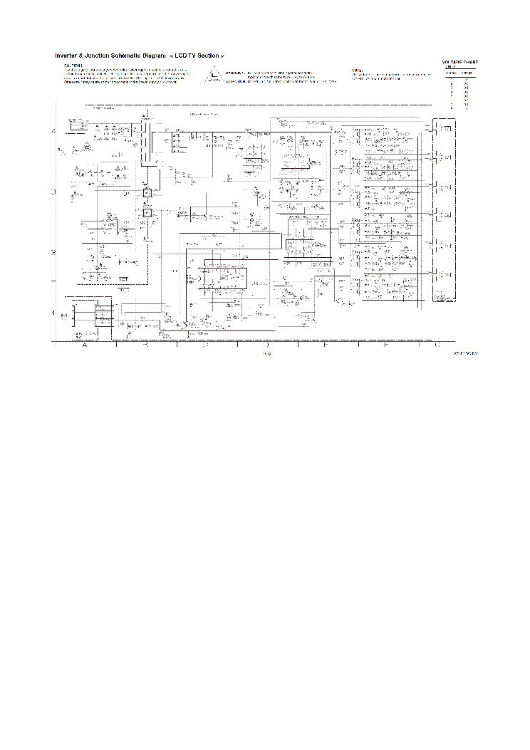 Sylvania A74f2 Power Supply Back Light Inverter Ucc28600 Oz9966
