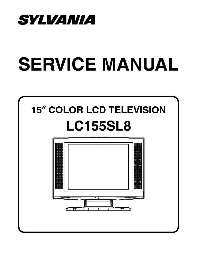 Sylvania lc195sl8 lcd tv sm service manual download, schematics.