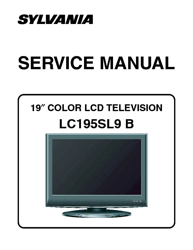 repair manual sylvania lc200sl8 lcd color television