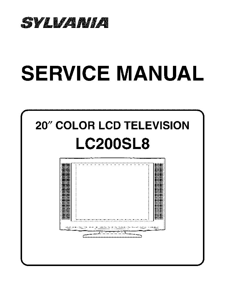 sylvania 6720fdf sm service manual download  schematics