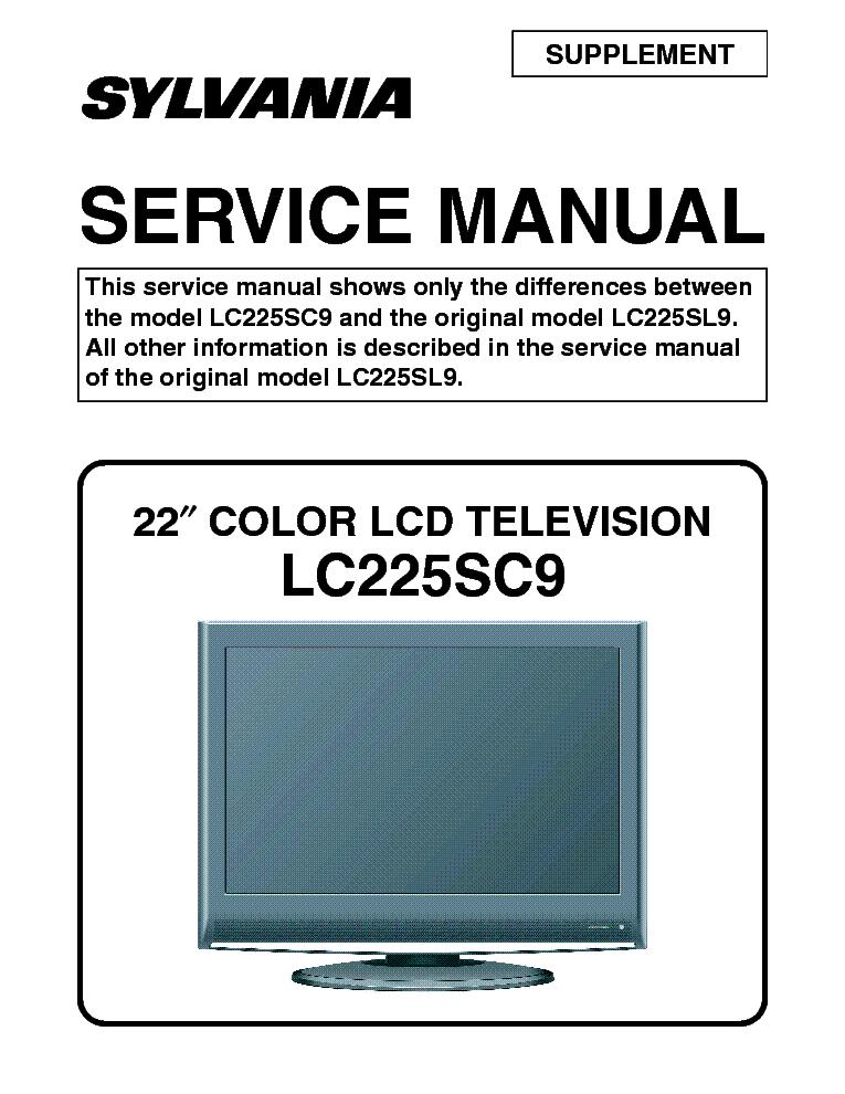 sylvania lc225sc9 lcd tv sm service manual download schematics rh elektrotanya com Sylvania TV Problems Sylvania TV Model