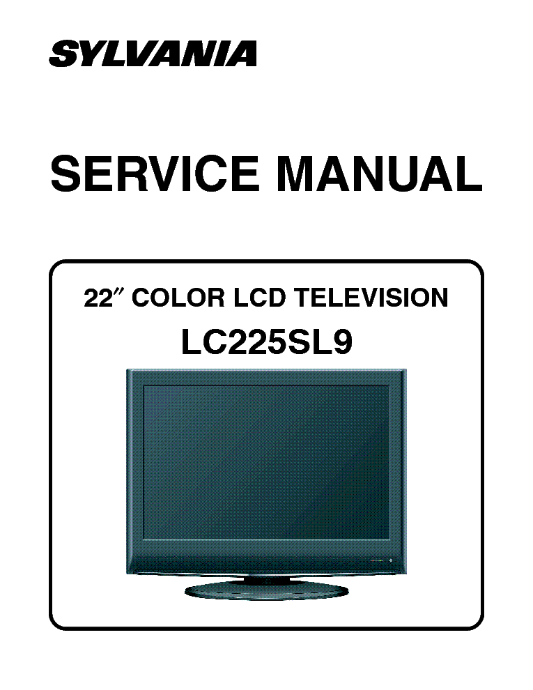 Sylvania Ld155sl8 A7420uh Lcd Tv Service Manual Download