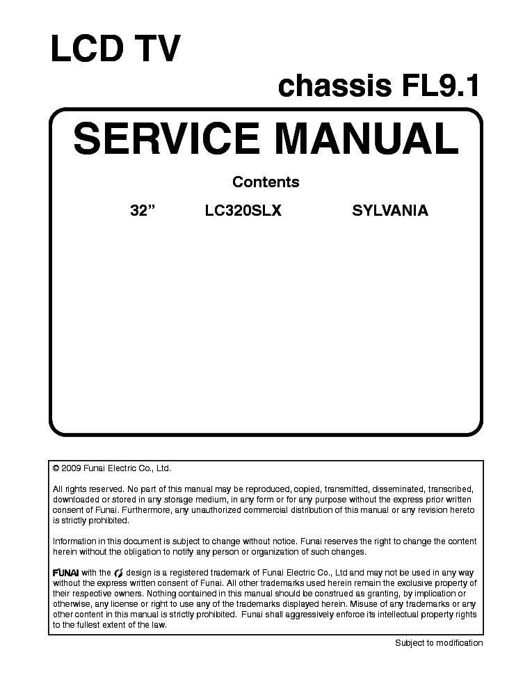 sylvania lc320slx chassis fl9 1 service manual download schematics rh elektrotanya com Sylvania LC320SLX Remote Control Flat Screen TV