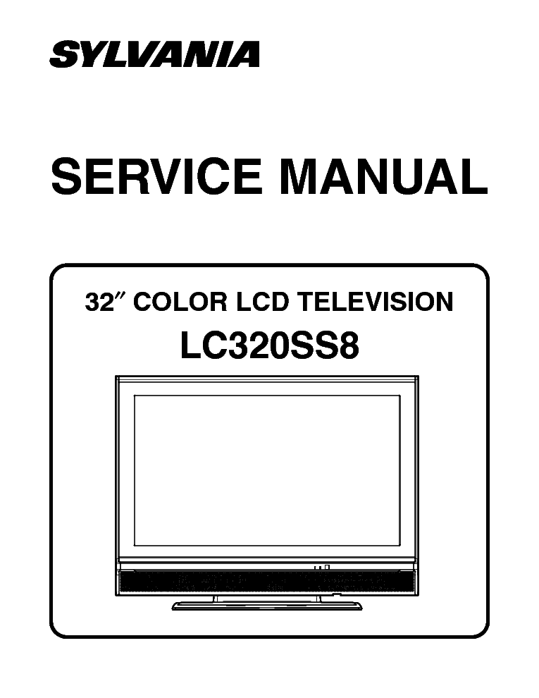 Sylvania lc320ss8 sm service manual download, schematics, eeprom.