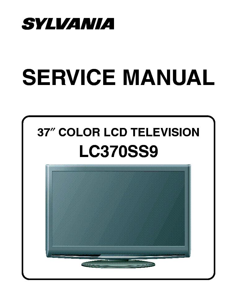 sylvania lc370ss9 lcd tv sm service manual download schematics rh elektrotanya com Old Sylvania TV Sylvania 32 Inch TV Manual