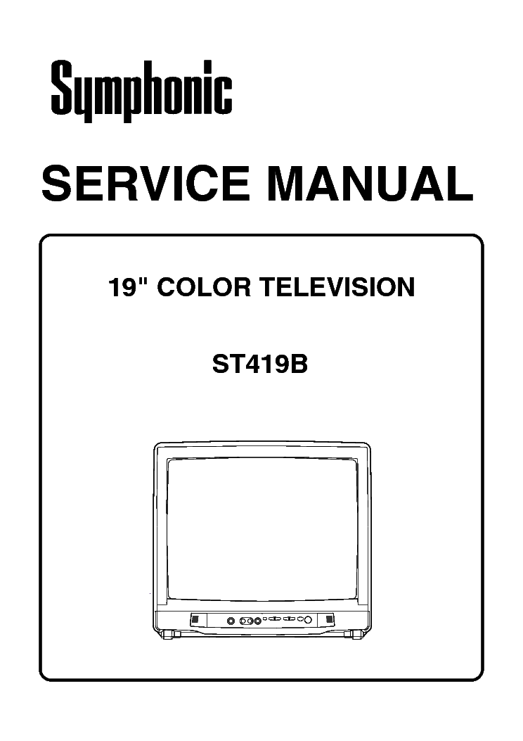 symphonic st413e st419e service manual free download  schematics  eeprom  repair info for