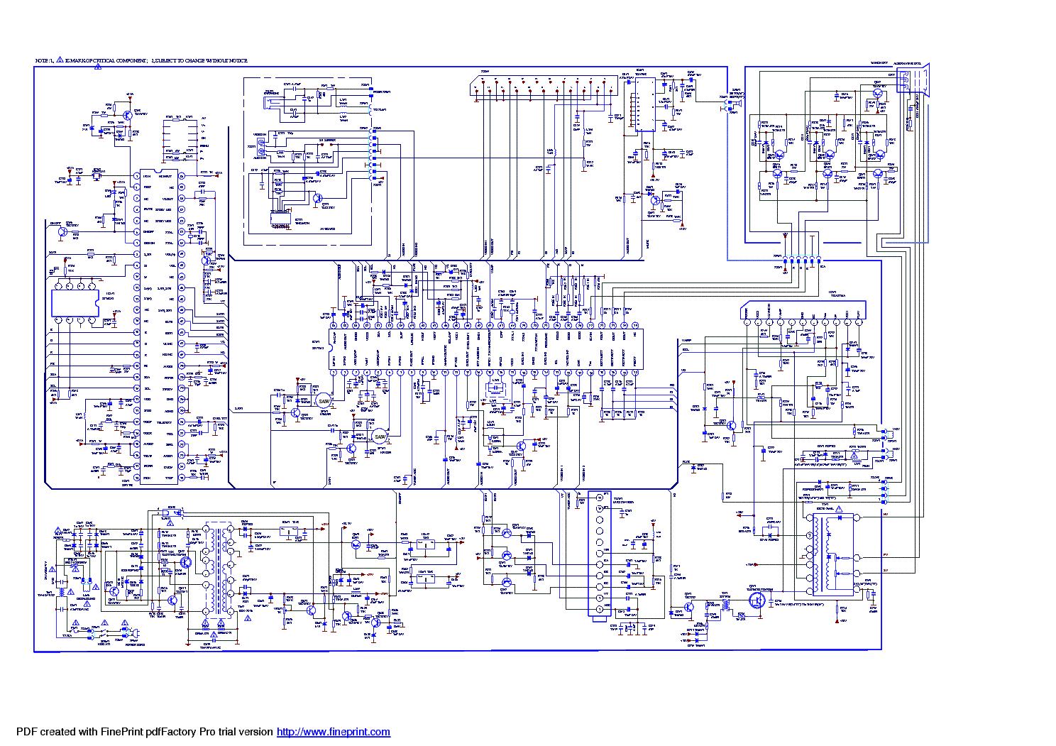 Схемы шасси телевизоров с
