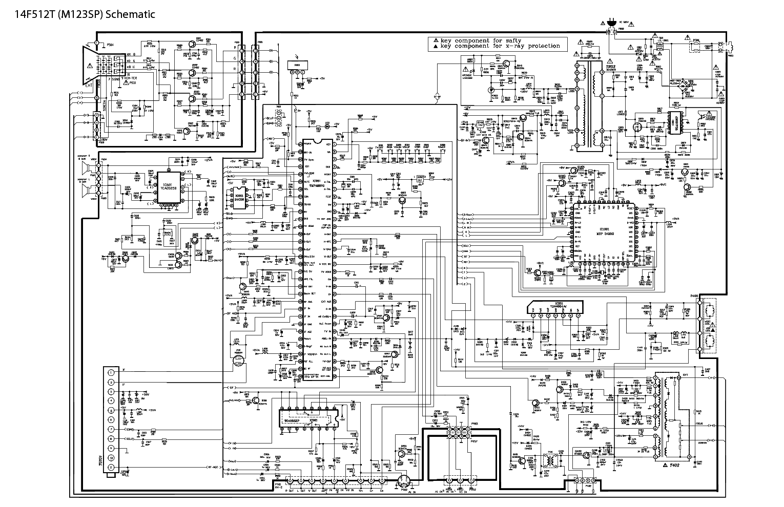 television circuit diagram