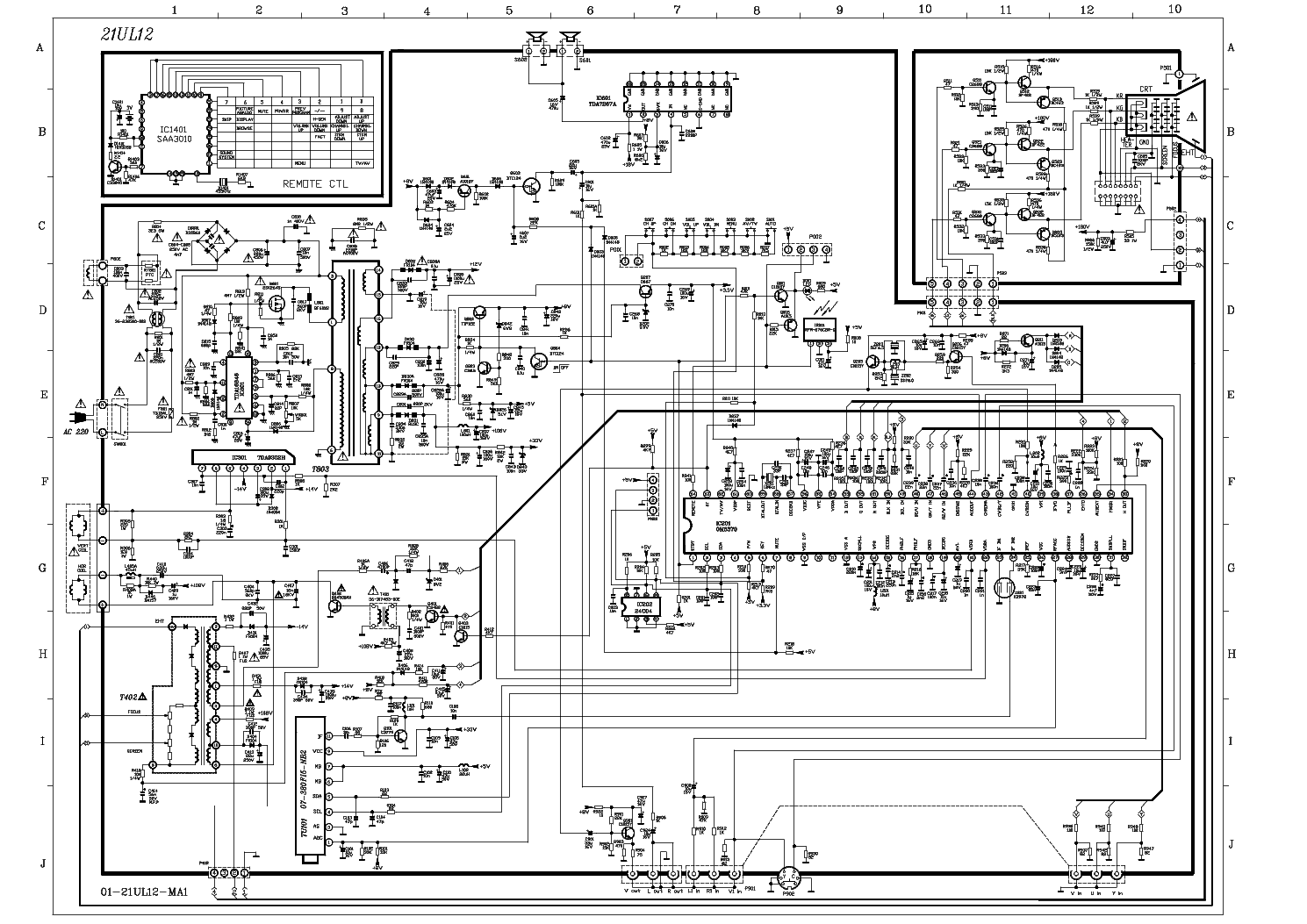 Tcl At21276 Ch 21ul12 Sch Service Manual Download  Schematics  Eeprom  Repair Info For
