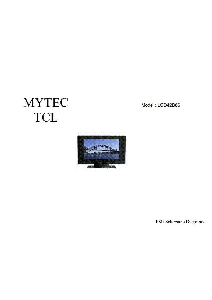 Groovy Tcl Lcd Tv Lcd42B66 Power Supply Schematic Diagram Sch Service Wiring Digital Resources Minagakbiperorg