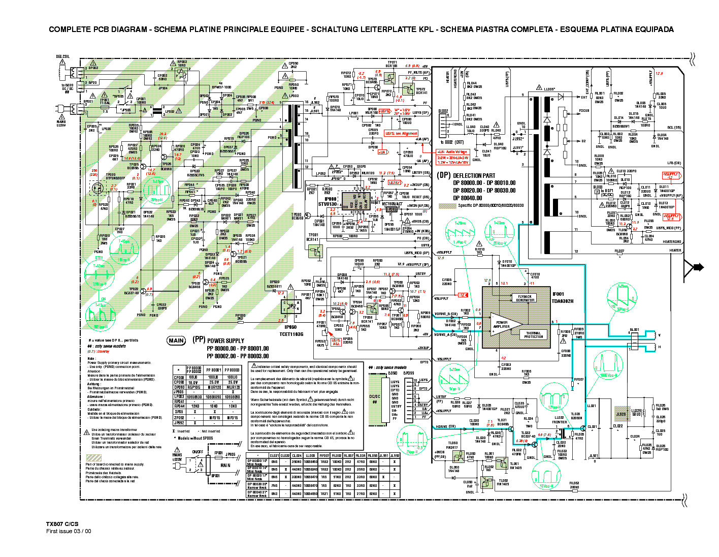 Томсон схема блока питания