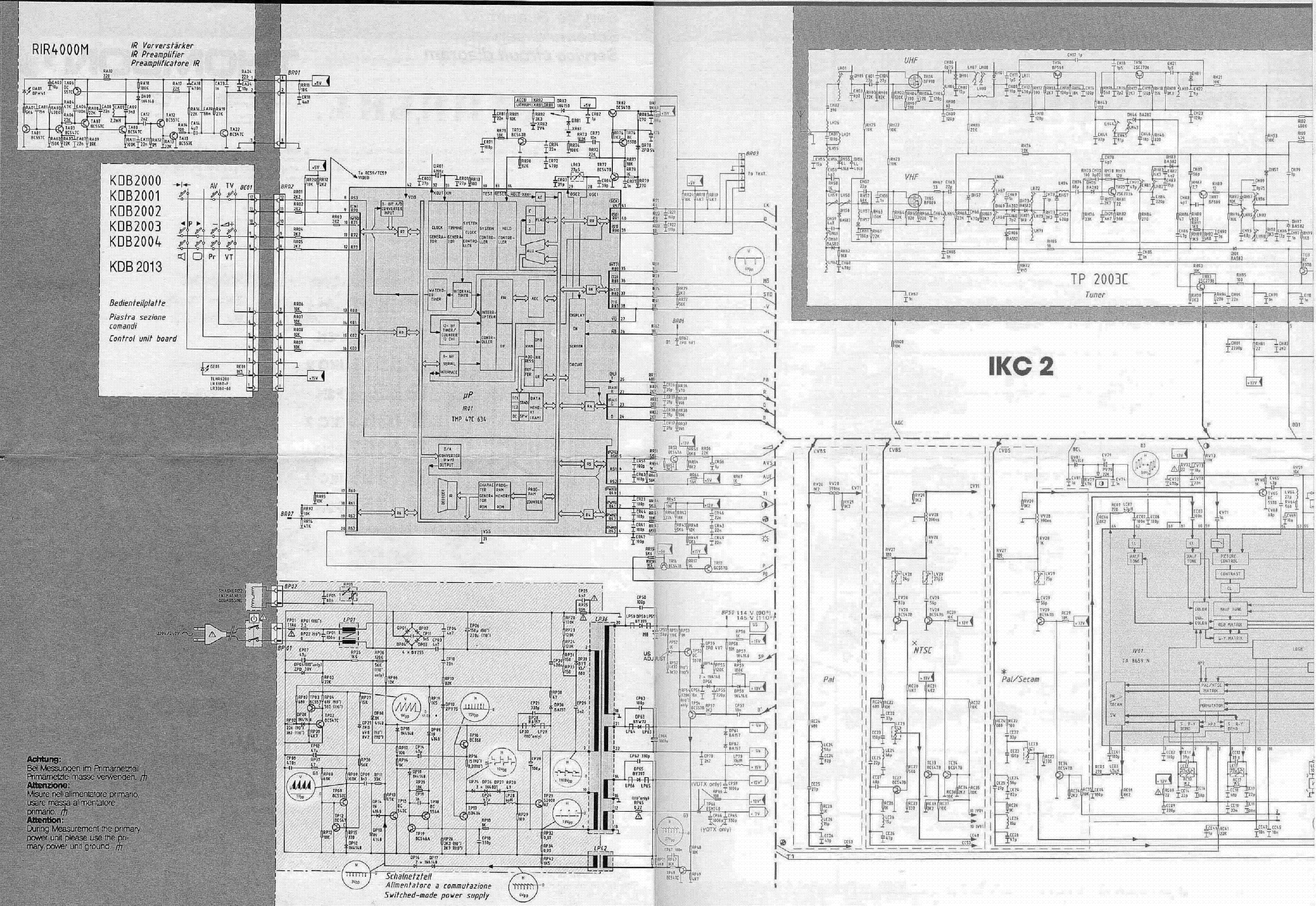 Схема телевизора Goodman IKC2 chassis.