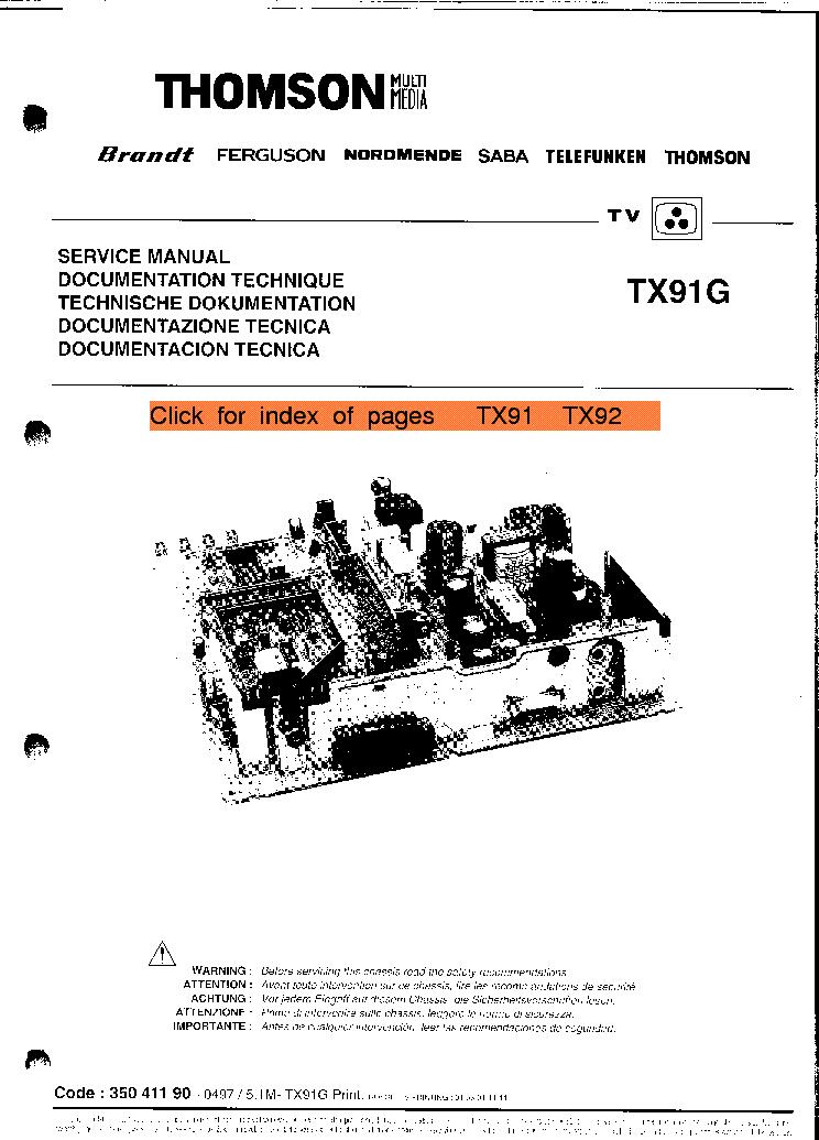 thomson tx91 service manual download schematics eeprom repair rh elektrotanya com Service Manuals Chilton Manuals