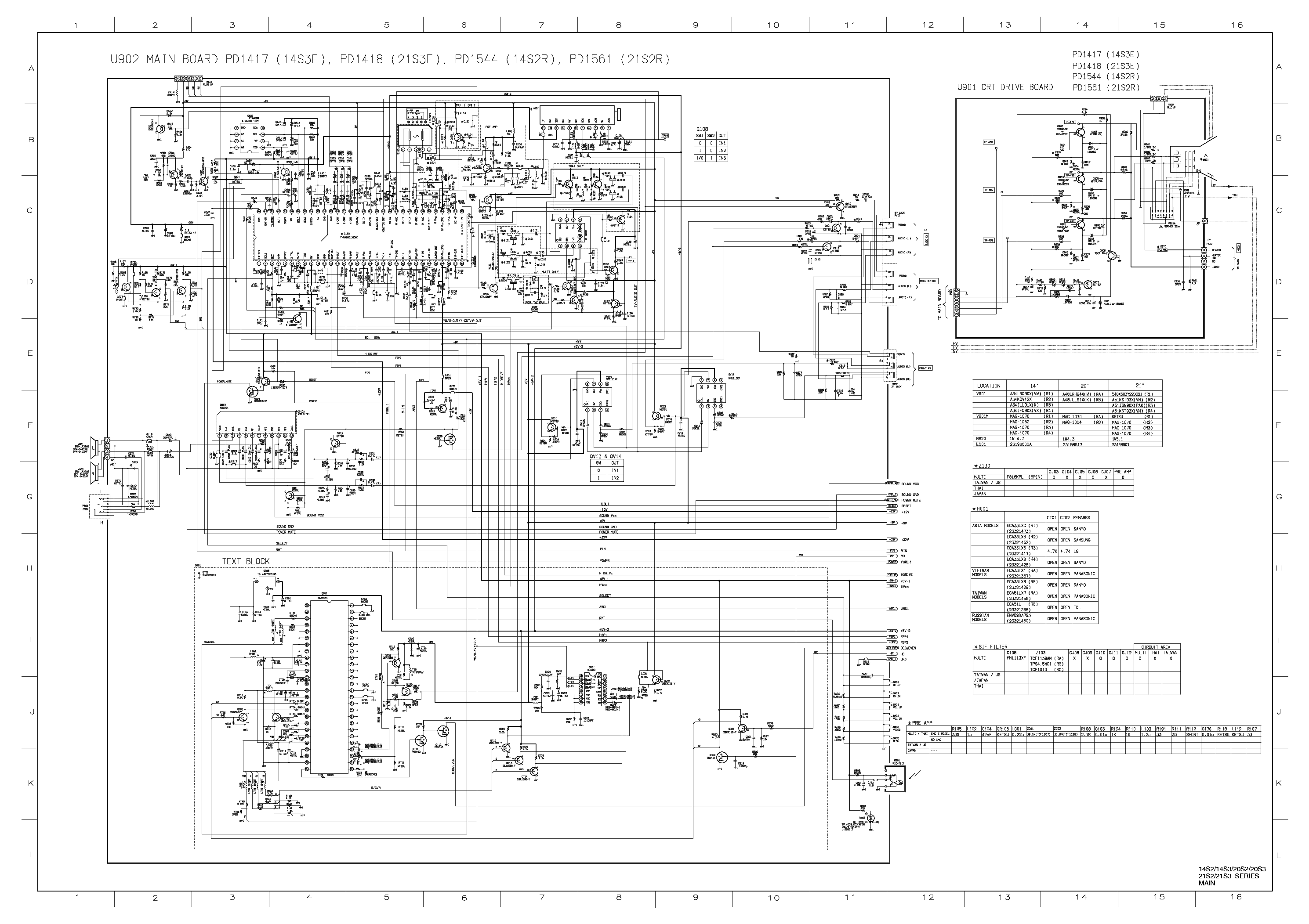 circuit board labeled diagram of a toshiba tv toshiba tv schematic diagrams - wiring diagram