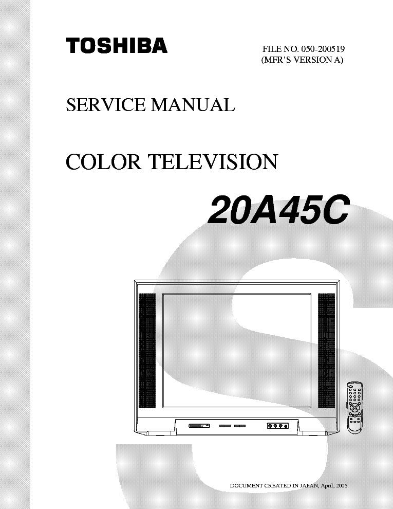 toshiba tv schematics