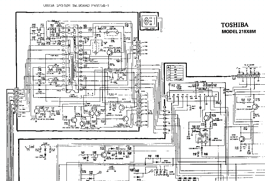 Toshiba 218x8 Tv D Service Manual Download  Schematics