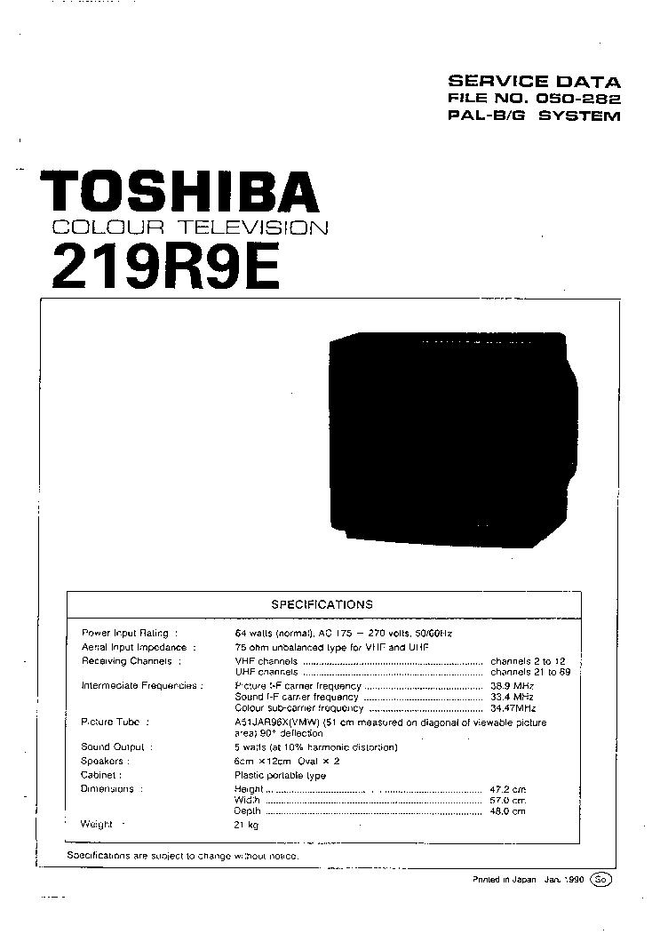 toshiba lc chassis 20vl44g 20vl55 20vl63 cd tv sm service manual rh elektrotanya com  toshiba 20vl63 manual