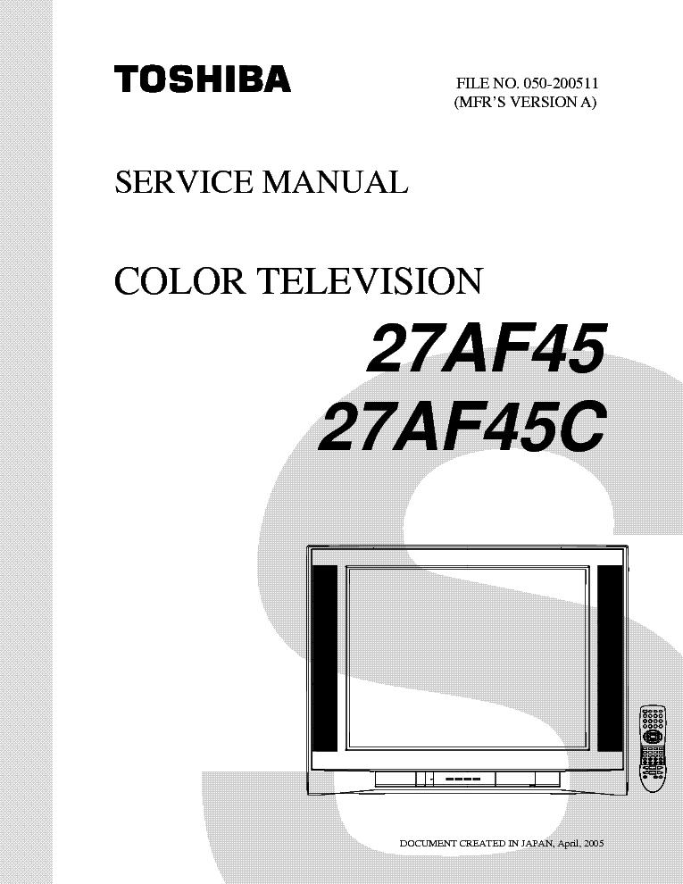 toshiba 27af45 27af45c service manual download schematics eeprom rh elektrotanya com 52HM95 Toshiba Manual TheaterWide Toshiba Satellite Laptops Manual