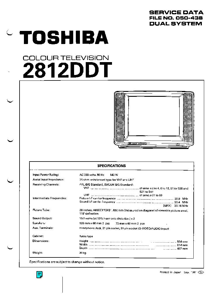 TOSHIBA 2812DDT SM