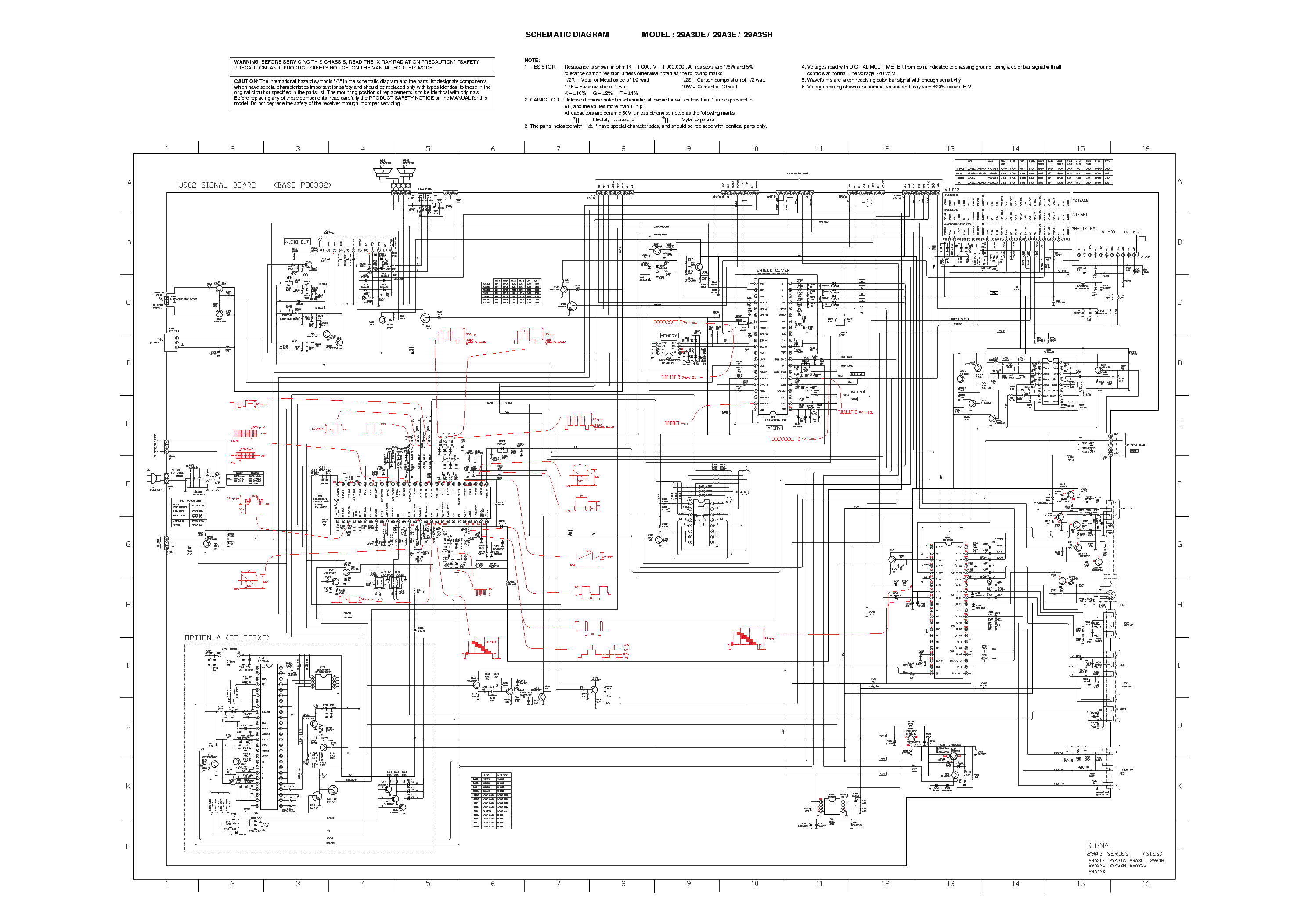 toshiba 29a3-chassis-s1es service manual download ... circuit board labeled diagram of a toshiba tv labeled diagram of a bomb