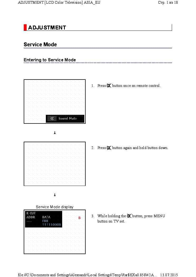 TOSHIBA 42AV625D VER 2 01 Service Manual download