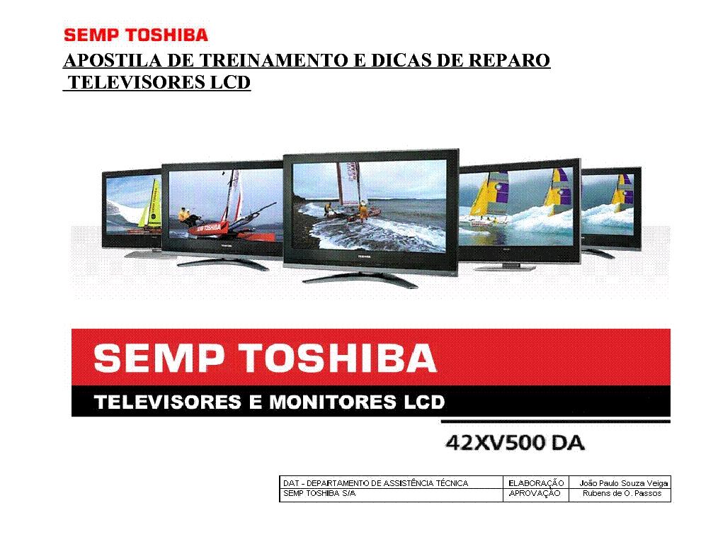 Toshiba 42xv500da Treinamento Lcd Tv