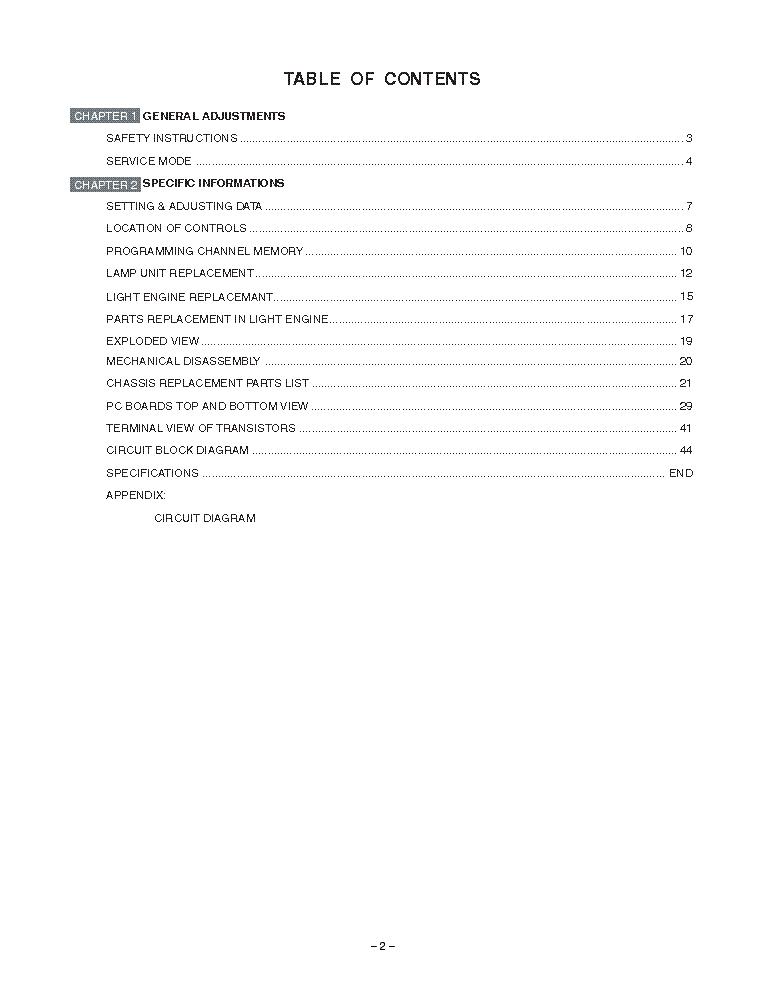 Toshiba 46hm84 52hm84 62hm84 Sm Service Manual Download