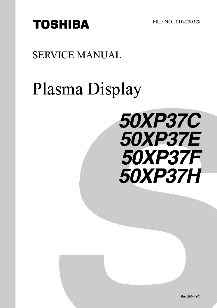 toshiba 50xp37c plasmatv sm service manual download. Black Bedroom Furniture Sets. Home Design Ideas