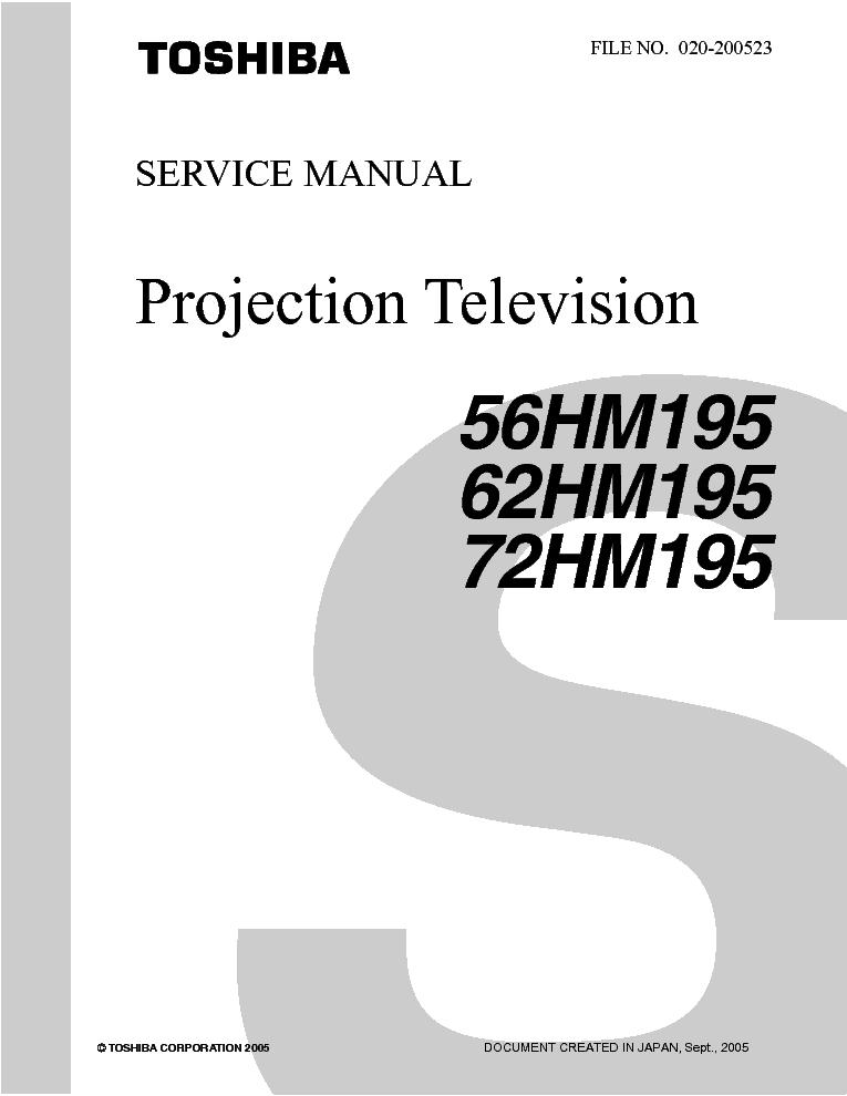 toshiba 56hm195 62hm195 72hm195 rev1 service manual download rh elektrotanya com eBay Toshiba Television Lamps Toshiba DLP Color Wheel Replacement