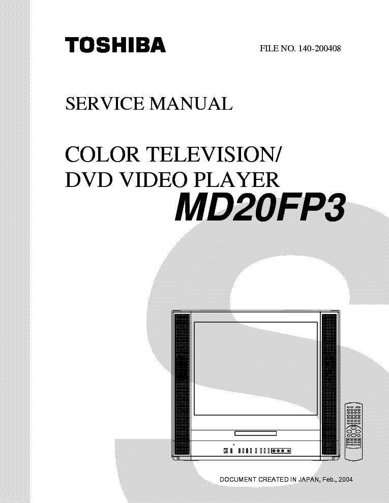 toshiba md20fp3 service manual download schematics eeprom repair rh elektrotanya com Toshiba TV Manual Televisions Toshiba W603 Service Manuals Model