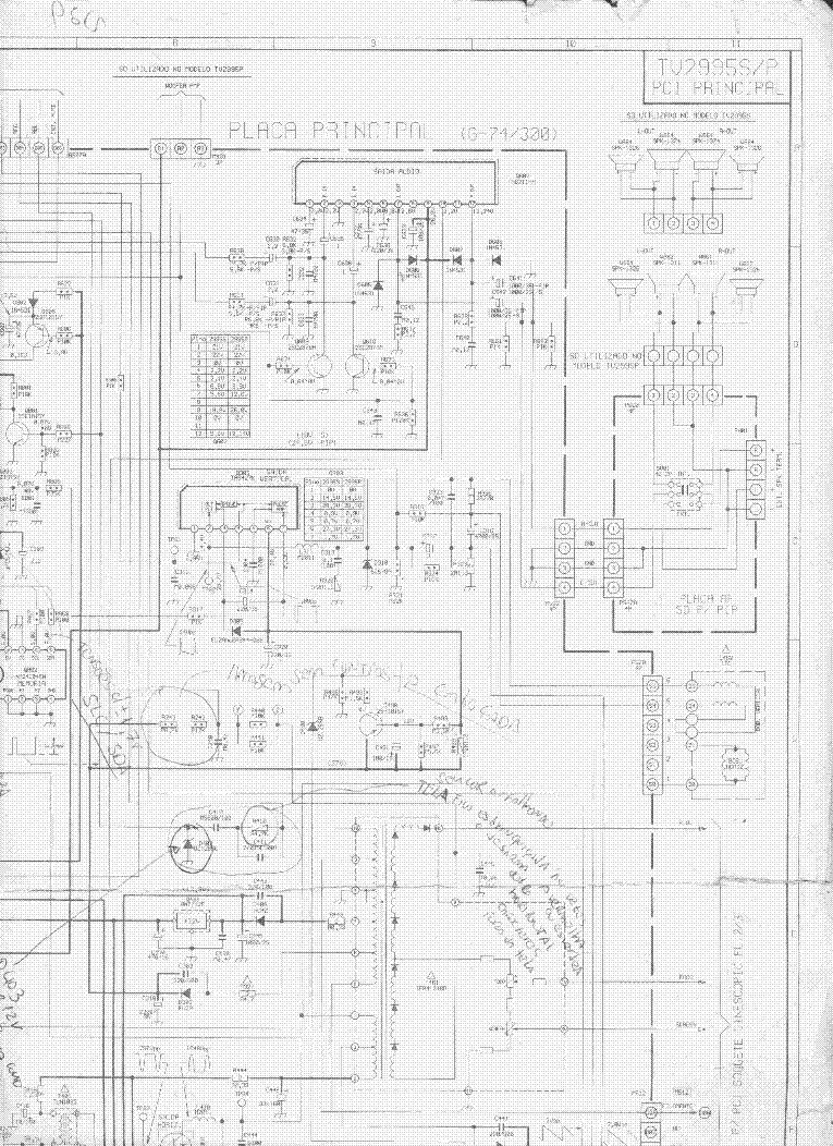 toshiba tv wiring diagrams toshiba tv-2995s,p service manual download, schematics ... #6