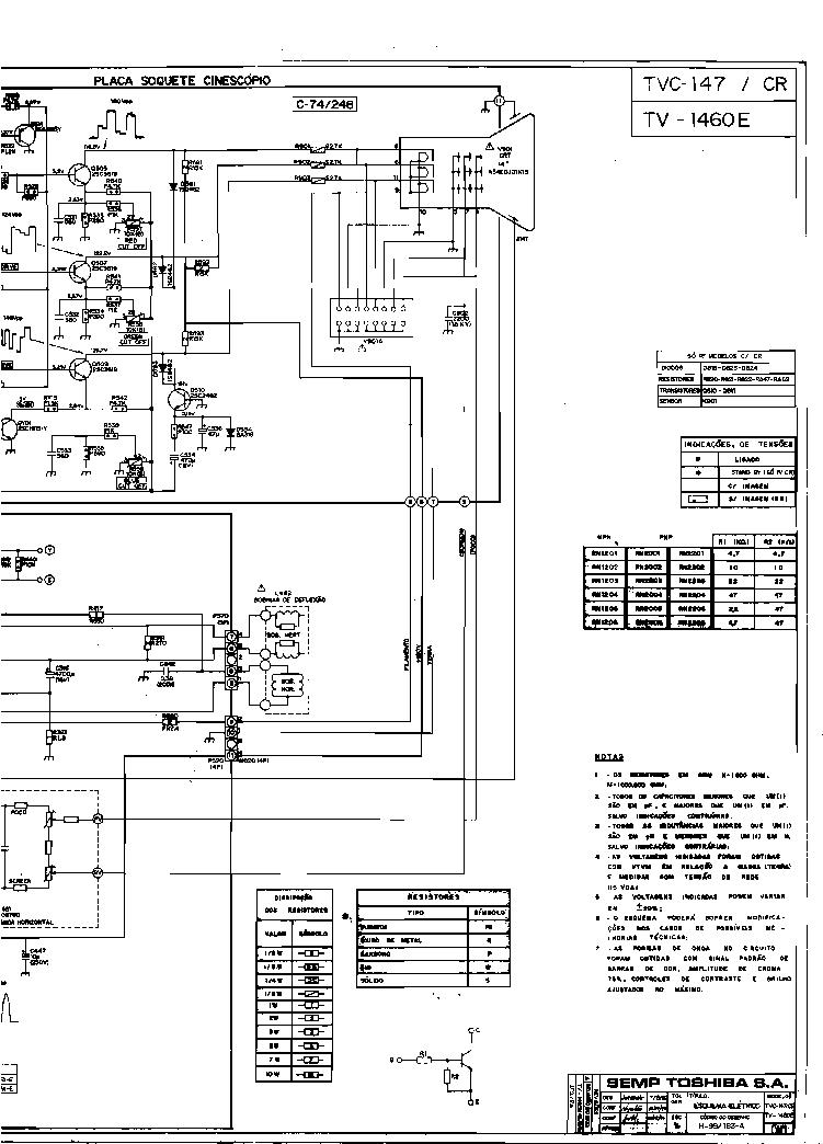 toshiba tv 1460e sch service manual download  schematics