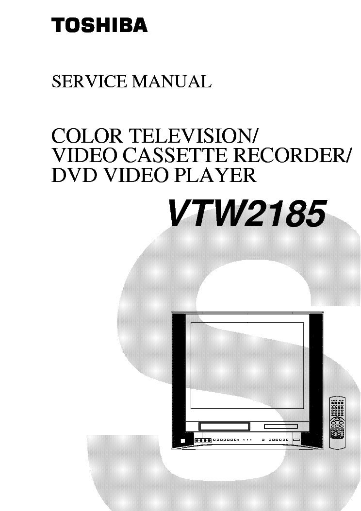 TOSHIBA VTW2185 TV-DVD-VCR
