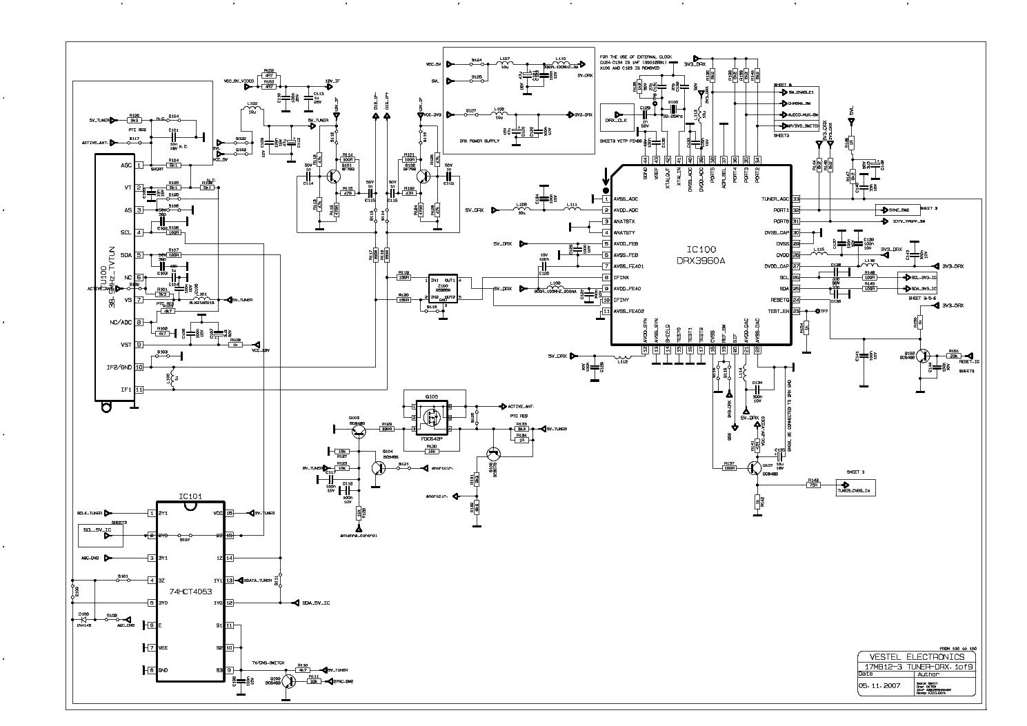 Электрическая схема vestel 840