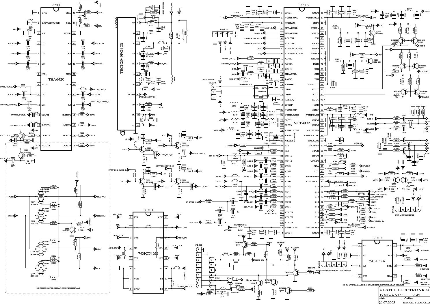 VESTEL 17MB24 SCH Service Manual download, schematics