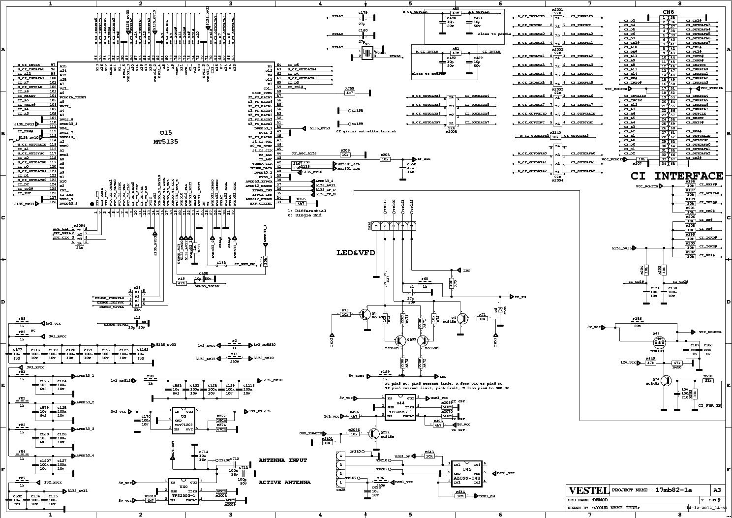 VESTEL 17MB82-1A SCH Service Manual download, schematics