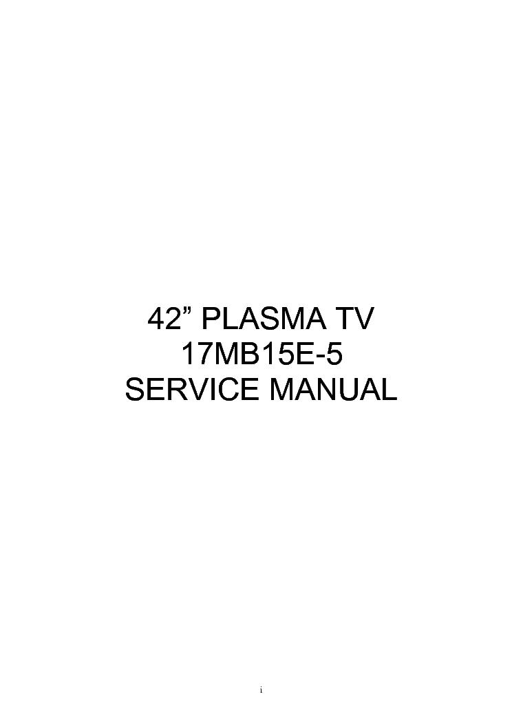 VESTEL CHASSIS 17MB15E-5 SM Service Manual download