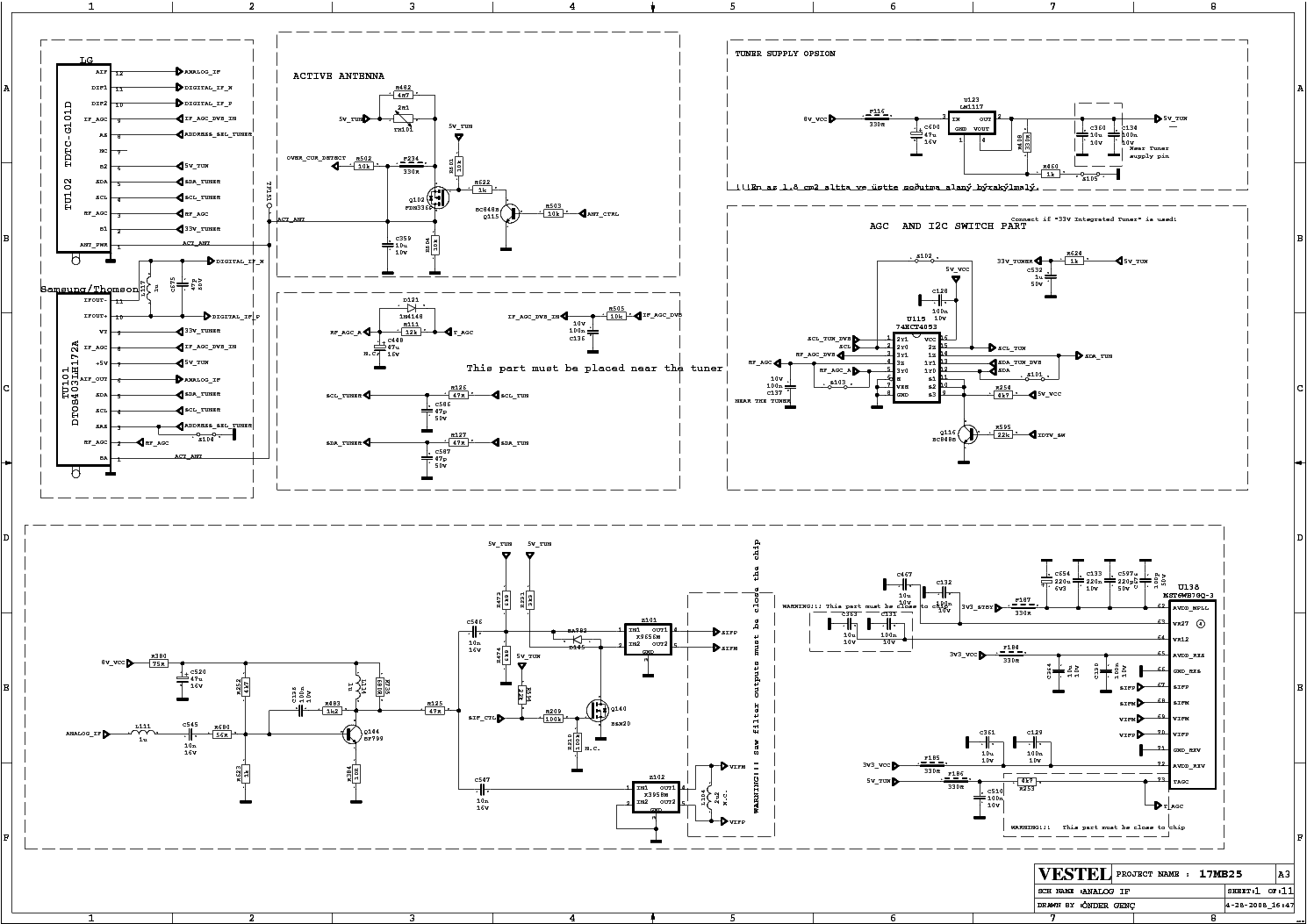 Vestel Lcd Tv 17mb25 Service Manual Download  Schematics