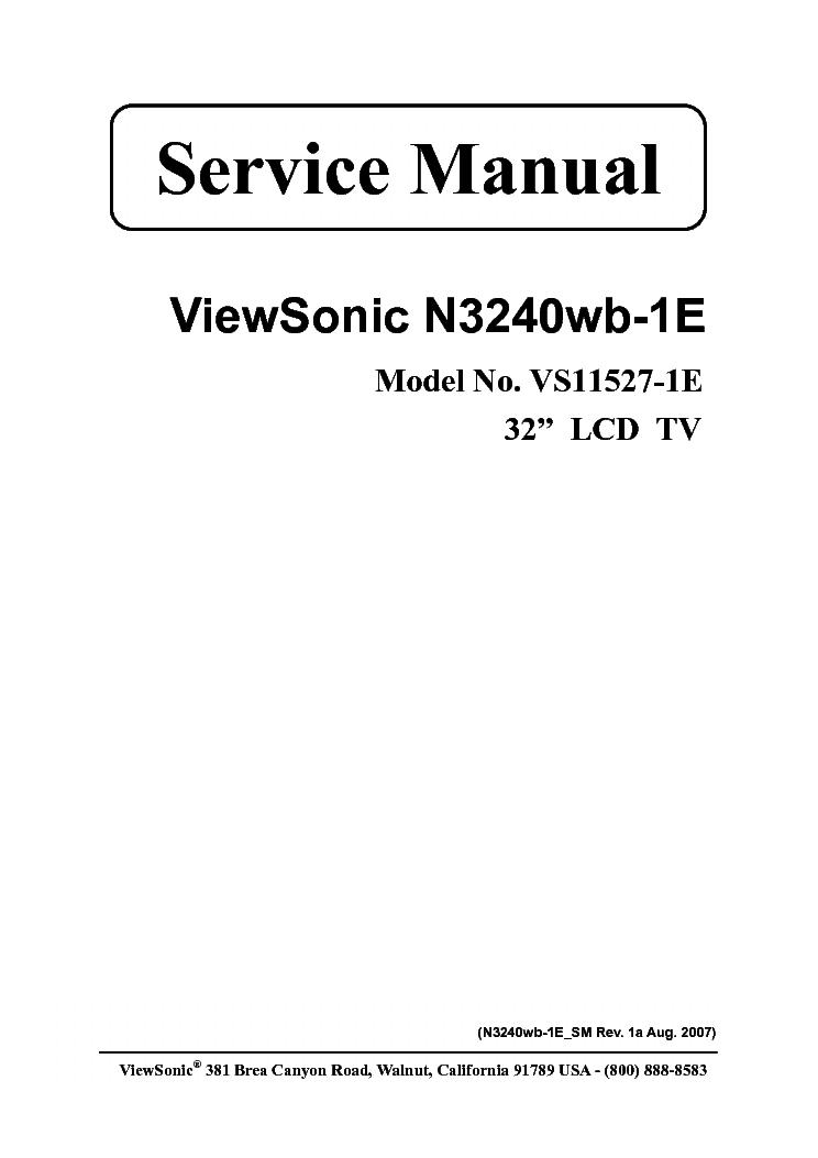 Viewsonic vt2730-1m manuals.