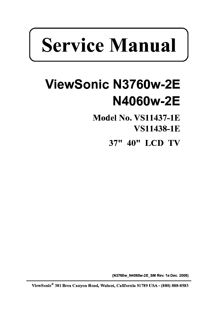 Viewsonic nx2232w-1m vs11859-1m service manual download.
