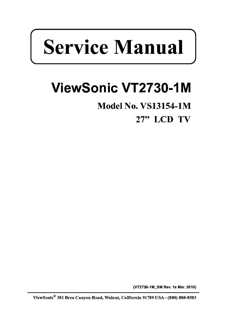 Amazon. Com: viewsonic vt2730 27-inch 1920x1080 lcd flat-panel hdtv.