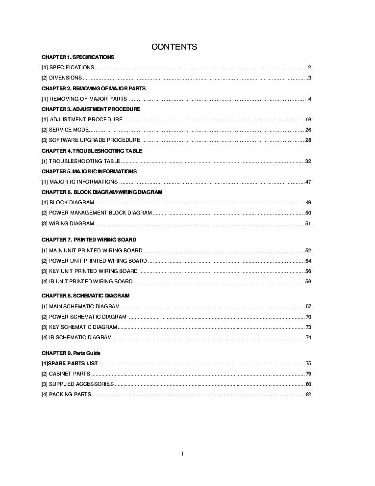 VIZIO E70-C3 LED TV SM Service Manual download, schematics
