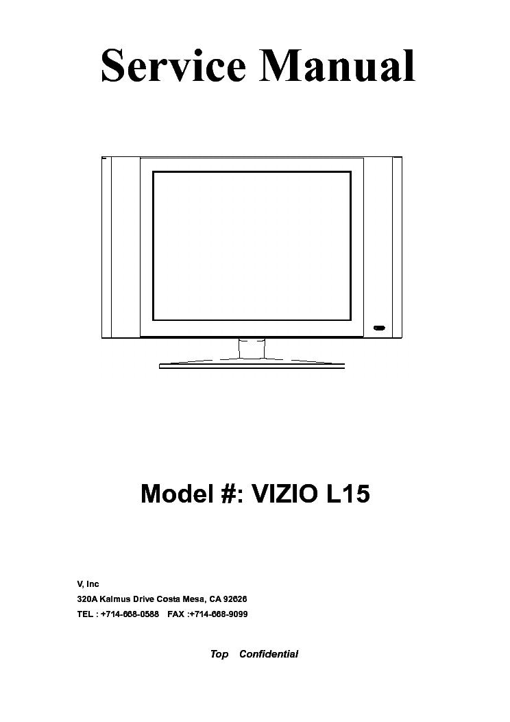 Vizio Tv Schematic Diagram - Wiring Circuit •