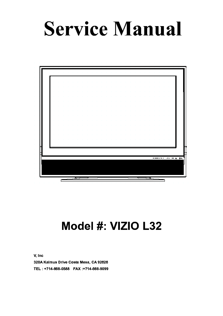 vizio vx32l vw32l hdtv20a service manual download schematics rh elektrotanya com Vizio TV Vizio VW32L HDTV20A Specs