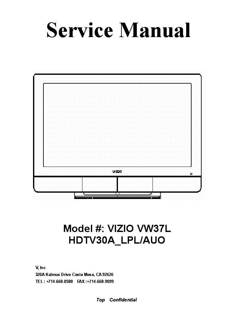 """vizio vt470m lcd tv service manual download schematics eeprom rh elektrotanya com Vizio 42"""" LCD Vizio Power Cord"""